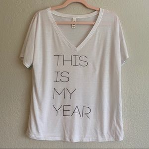 BELLA This Is My Year Graphic Soft Tee 2021 Vibes